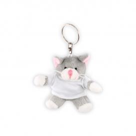 Salvador, plyšová mačka, krúžok na kľúče