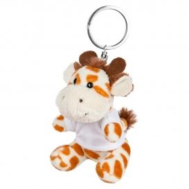 Lizzy, plyšová žirafa, krúžok na kľúče