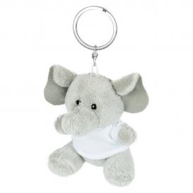 Hugo, plyšový slon, krúžok na kľúče