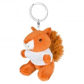 Ginny, plyšová veverička, krúžok na kľúče
