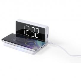 5W bezdrôtová nabíjačka, stolové hodiny s budíkom