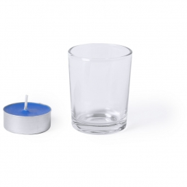 Sklenený držiak na sviečky, vonná sviečka