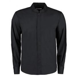Men `Tailored Fit Bar Shirt Mandarin Collar Long Sleeve