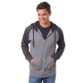 Men `Lightweight Jersey Raglan Zip Hood