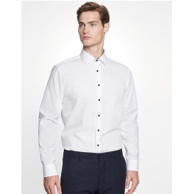 Men `Shirt Poplin Shaped Fit Longsleeve