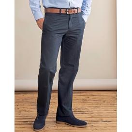 Men `Teflon® Coated Flat Front Chino