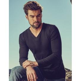 Men 'V-Neck T-Shirt Longsleeve